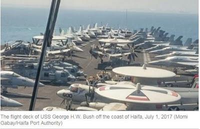 «Το μεγαλύτερο αεροπλανοφόρο του κόσμου, αγκυροβόλησε στο ισραηλινό λιμάνι της Χάιφα» - Εικόνα1