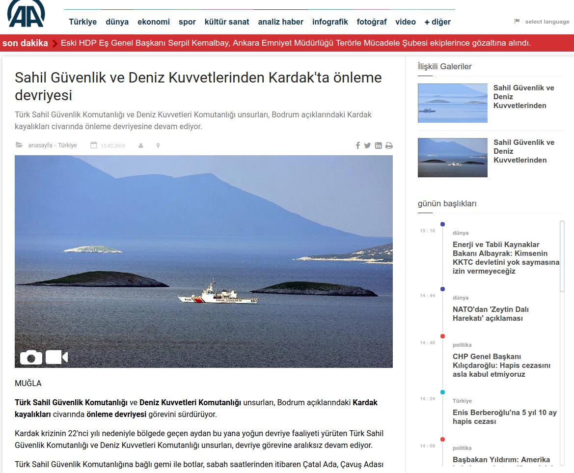 Η Αγκυρα κλιμακώνει την ένταση: «Τα Ιμια ανήκουν στην Τουρκία» - Εικόνα