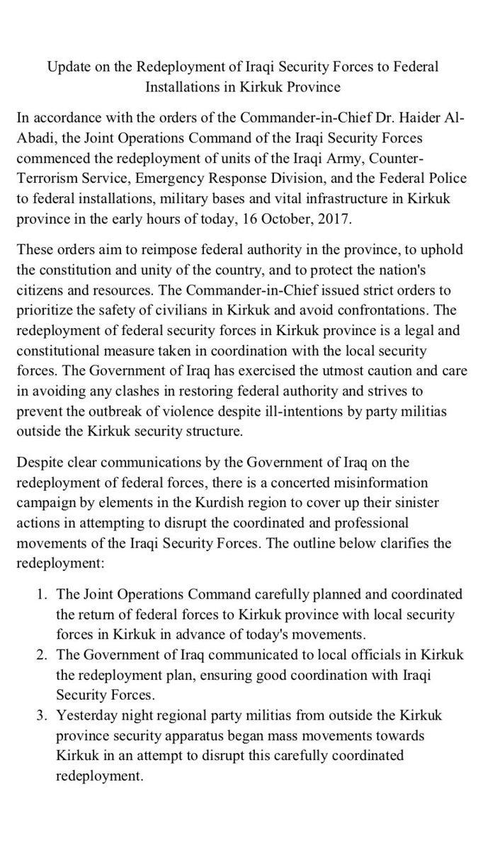 Τι ακριβώς συμβαίνει στο Κιρκούκ; Ποιος Κούρδος παράγοντας απέσυρε τις δυνάμεις του από το μέτωπο και γιατί; - Εικόνα8