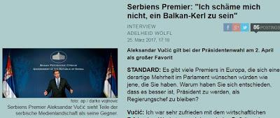 Αλβανικό δημοσίευμα: Ο Βούτσιτς απειλεί με πόλεμο το Κοσσυφοπέδιο... - Εικόνα1