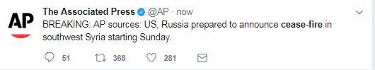 Εκεχειρία στη Συρία αποφάσισαν Πούτιν-Τραμπ - Εικόνα 0