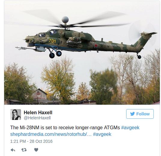 Έξυπνο ελικόπτερο: Το Ρωσικό   Mi-28NM  συνομιλεί με μη επανδρωμένα αεροσκάφη , και πυροβολεί ρουκέτες με λέιζερ (Video) - Εικόνα1