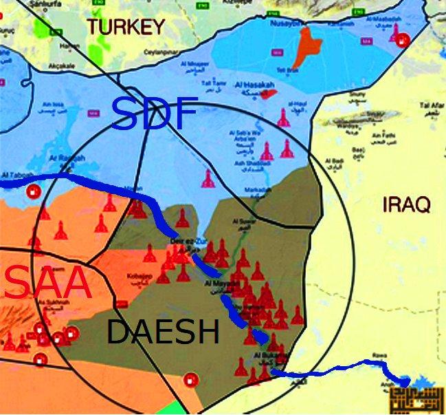 ΕΚΤΑΚΤΟ – Σφοδρές συγκρούσεις ρωσοσυριακών δυνάμεων και Κούρδων στις πετρελαιοπηγές του Ευφράτη – Άνοιξαν τα φράγματα οι ΗΠΑ – Προστρέχουν σε βοήθεια οι Τούρκοι κόβοντας τη ροή του ποταμού! - Εικόνα1