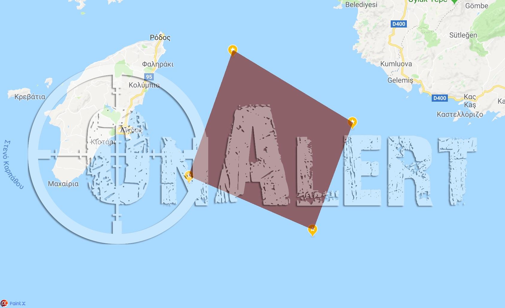 ΕΚΤΑΚΤΟ! Εκτός ελέγχου η Τουρκία, πάμε για εμπλοκή: Ναυτικός αποκλεισμός του Καστελόριζου για ασκήσεις με πυρά – Πυραυλάκατοι του ΠΝ και ΠΑ σε ετοιμότητα - Εικόνα1