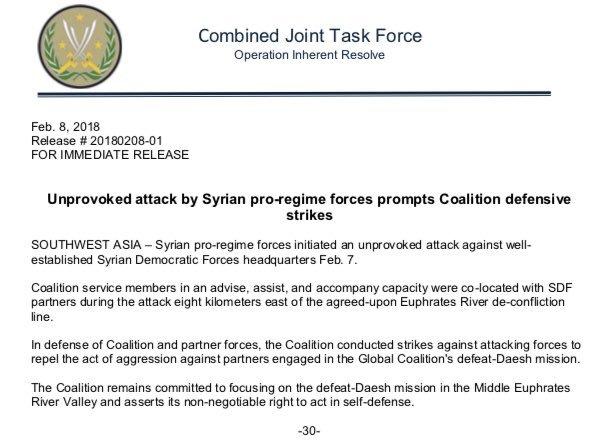 ΕΚΤΑΚΤΟ: Επιδρομές αμερικανικών μαχητικών κατά του Συριακού Στρατού και των Ρώσων – 100 νεκροί και τραυματίες - Εικόνα0
