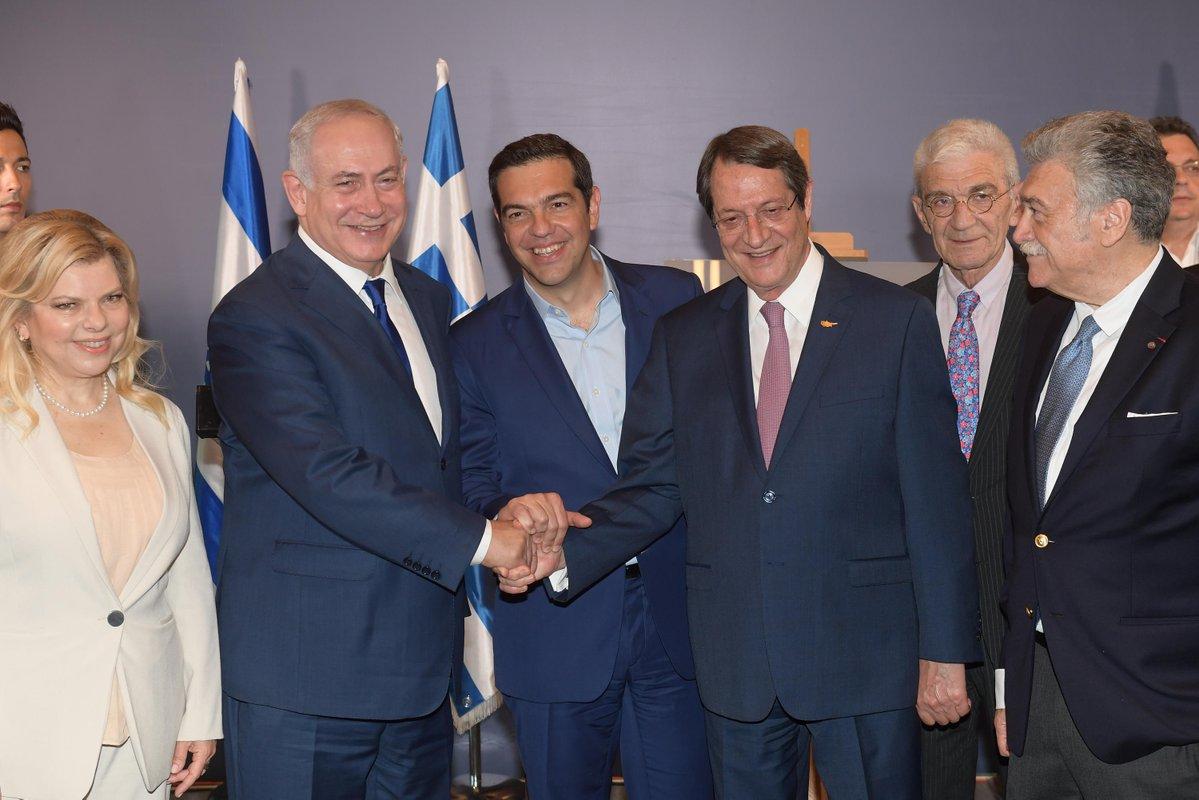 Έκτακτο: Πρώτη αναφορά του Α. Τσίπρα για κοινή ΑΟΖ Ελλάδας – Κύπρου – Ισραήλ -Τί είπε και για τον EASTMED – Έπεσε «βόμβα» μετά το τέλος της τριμερής-Δείτε βίντεο και εικόνες - Εικόνα1