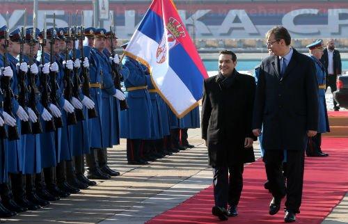 ΕΚΤΑΚΤΟ: Συμμαχία Ελλάδας-Σερβίας-Ρωσίας-Κίνας και μήνυμα σε Αλβανία-Τουρκία – Α.Τσίπρας: «Στις κρίσιμες στιγμές βρεθήκαμε πάντα στην ίδια πλευρά» – Σύνδεση Πειραιά-Θεσ/κη-Βελιγράδι για τον «Δρόμο του Μεταξιού» - Εικόνα1