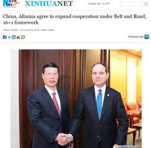 Ενδιαφέρον Κίνας για επενδύσεις και συνεργασία στην Αλβανία - Εικόνα1