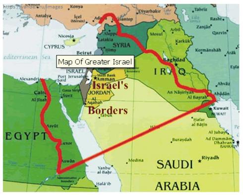 Επικίνδυνες πλανητικές εξελίξεις: Οι ΗΠΑ έθεσαν σε εφαρμογή το σχέδιο «Μεγάλη Μέση Ανατολή» με τη δημιουργία του «Μεγάλου Ισραήλ» – Ερχεται αιματοχυσία δίχως τέλος (χάρτης) - Εικόνα1