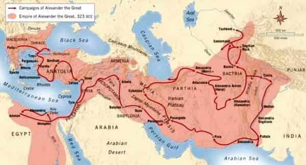 Οι Επιστήμονες στην Εκστρατεία του Μ. Αλεξάνδρου. Ο γιατρός που του έσωσε τη ζωή και οι βηματιστές, που μέτρησαν με ακρίβεια την Ασία πριν 2.300 χρόνια - Εικόνα1