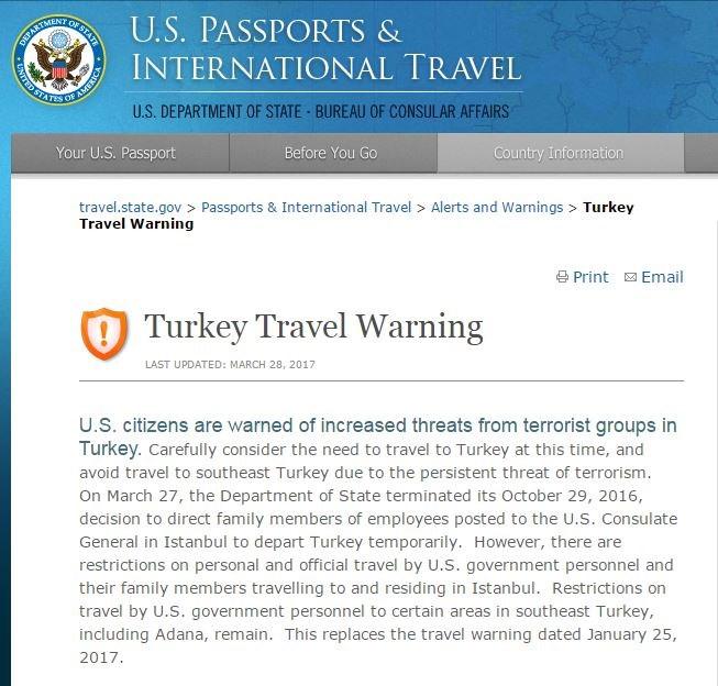 Έρχεται μεγάλη σφαγή- Ταξιδιωτική οδηγία ΗΠΑ, Ισραήλ, Ρωσίας: «Εγκαταλείψτε αμέσως την Τουρκία» – Πλήγμα λίγο πριν την επίσκεψη Ρεξ Τίλερσον - Εικόνα0
