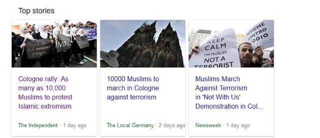 ΓΕΡΜΑΝΙΑ: Αριστεροί διαφήμιζαν για ημέρες μεγαλειώδη συγκέντρωση 10.000 μουσουλμάνων που θα κατήγγειλαν το «φανατικό ισλάμ». Τελικά εμφανίστηκαν 20 μουσουλμάνοι (και 280 «αλληλέγγυοι») - Εικόνα1