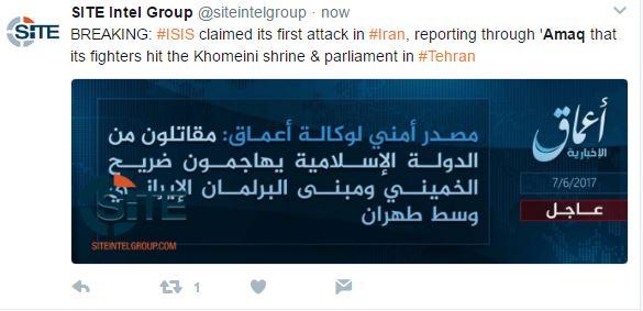 Το Ισλαμικό Κράτος ανέλαβε την ευθύνη για τη διπλή επίθεση στο Ιράν - Εικόνα 0