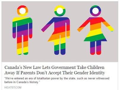 ΚΑΝΑΔΑΣ: Νόμος δίνει την δυνατότητα στο κράτος να αφαιρέσει τα παιδιά από τους γονείς που δεν πιστεύουν στην θεωρία που λέει ότι το αγόρι τους μπορεί τελικά να είναι κορίτσι και το κορίτσι τους μπορεί τελικά να είναι αγόρι... - Εικόνα1