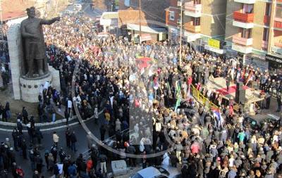Κοσσυφοπέδιο: Διαμαρτυρία Σέρβων στη βόρεια Μιτρόβιτσα - Εικόνα1