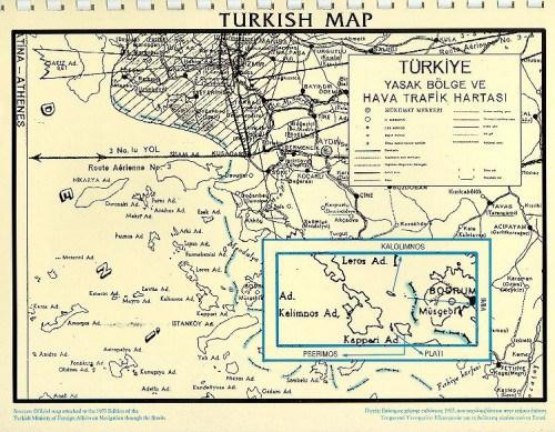 Για να μην ξεχνούν οι Έλληνες και να θυμούνται οι Τούρκοι: Τουρκικός χάρτης δείχνει τα 'Ιμια ελληνικά - Εικόνα1