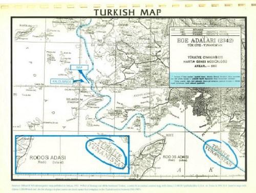 Για να μην ξεχνούν οι Έλληνες και να θυμούνται οι Τούρκοι: Τουρκικός χάρτης δείχνει τα 'Ιμια ελληνικά - Εικόνα2