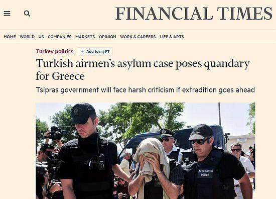 Μεγάλες ευρωπαϊκές εφημερίδες κάνουν λόγο για συμφωνία Τσίπρα-Ερντογάν για την έκδοση των 8 Τούρκων - Εικόνα2