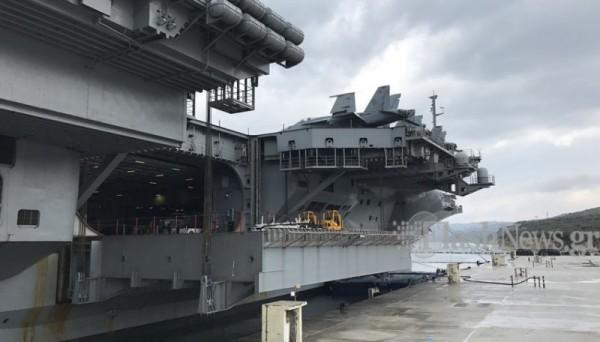 ΜΕΣΑ ΣΤΟ… ΘΗΡΙΟ: Το αεροπλανοφόρο USS George Bush στην Κρήτη και οι Έλληνες του (Εντυπωσιακές εικόνες και βίντεο) - Εικόνα1