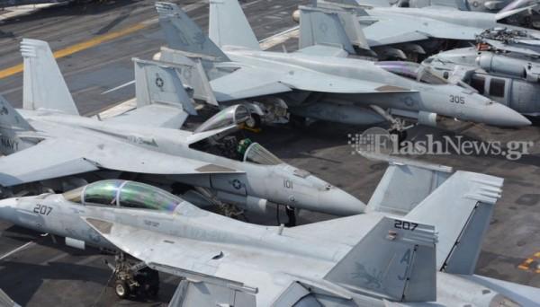 ΜΕΣΑ ΣΤΟ… ΘΗΡΙΟ: Το αεροπλανοφόρο USS George Bush στην Κρήτη και οι Έλληνες του (Εντυπωσιακές εικόνες και βίντεο) - Εικόνα5