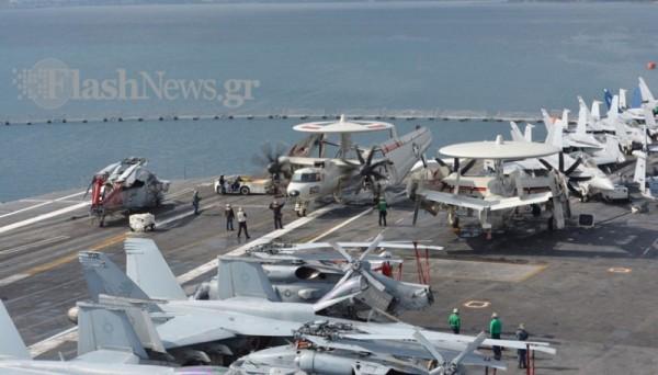 ΜΕΣΑ ΣΤΟ… ΘΗΡΙΟ: Το αεροπλανοφόρο USS George Bush στην Κρήτη και οι Έλληνες του (Εντυπωσιακές εικόνες και βίντεο) - Εικόνα6