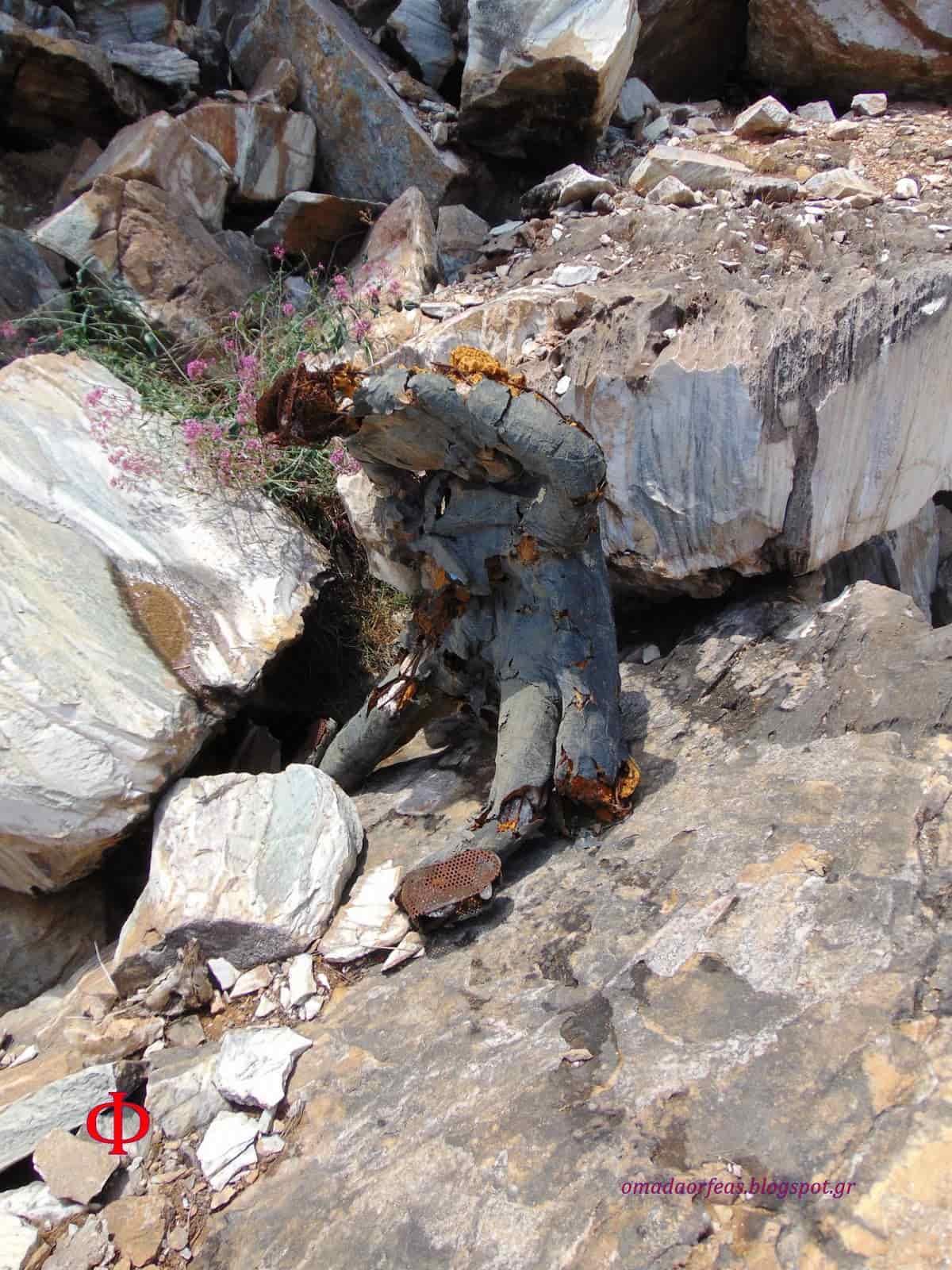Η Μυστηριώδης «Πανοπλία» που Βρέθηκε σε Λατομείο της Πεντέλης (εικόνες) - Εικόνα1
