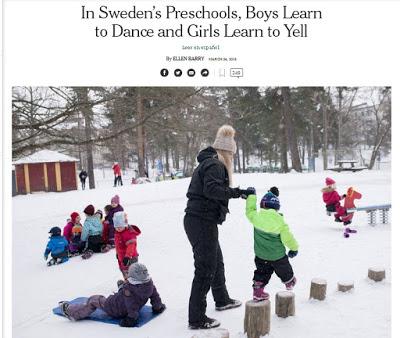 Νηπιαγωγεία «ουδέτερα φύλου» στην Σουηδία διδάσκουν τα αγόρια να φοράνε φουστάνια. Ποιο σκοτεινό σχέδιο κρύβεται πίσω από την προσπάθεια κατάργησης των φύλων; - Εικόνα2