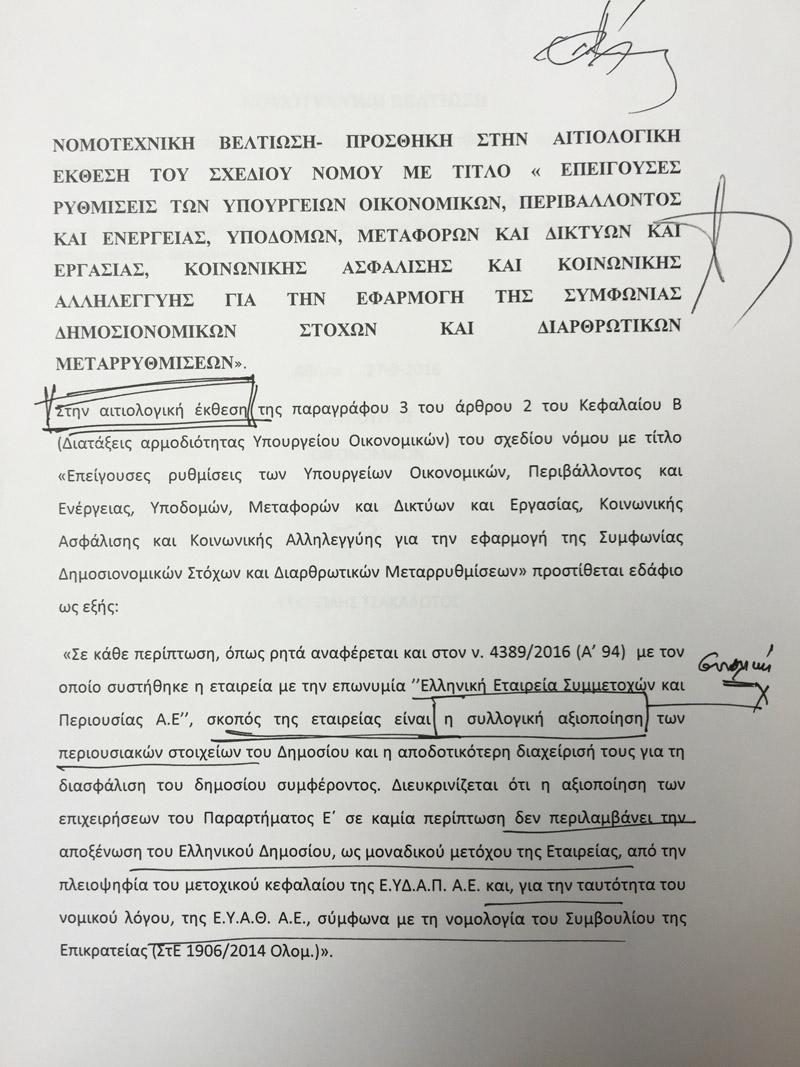 Όπισθεν από τους Οικολόγους: Τώρα λένε ότι θα ψηφίσουν τις διατάξεις για την ΕΥΔΑΠ - Εικόνα 1