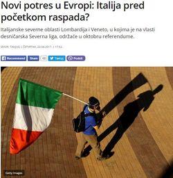 Πάει για διάλυση η Ιταλία; - Εικόνα1