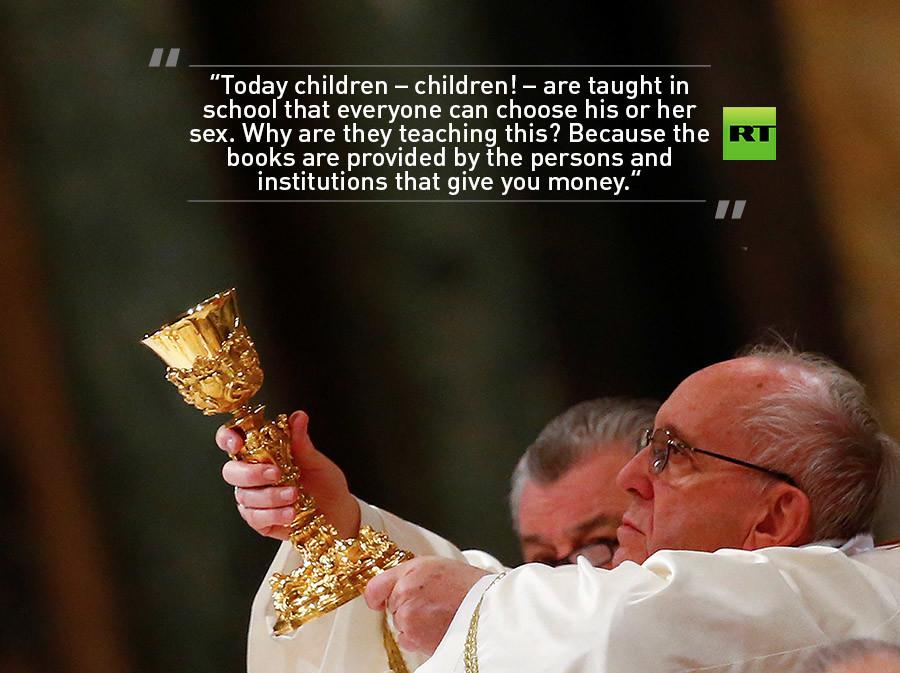 Ο Πάπας αποκαλύπτει γιατί γίνονται μαθήματα τρανσέξουαλ στα σχολεία - Εικόνα0