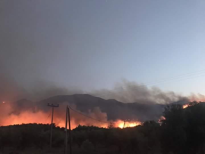 Σε πύρινο κλοιό η ανατολική Μάνη: Κάηκαν σπίτια σε χωριά - Εικόνα 0