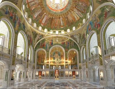 ΡΩΣΙΑ: Νέα γιγαντιαία Εκκλησία άνοιξε δίπλα στη φυλακή της KGB στη Μόσχα - Εικόνα2