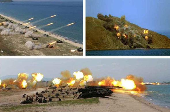Συγκλονιστικές εικόνες: Σε θέσεις μάχης ο Στρατός της Β.Κορέας – Ο Κιμ Γιονγκ Ουν επιθεωρεί τα στρατεύματα: «Αμερικανοί είμαστε έτοιμοι»- Δείτε εικόνες και βίντεο - Εικόνα9