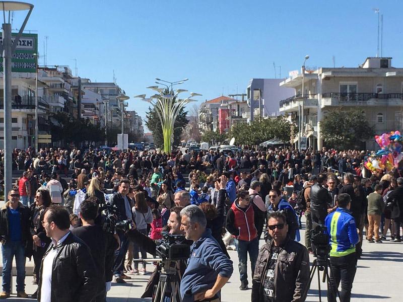 Συλλαλητήριο στην Ορεστιάδα για τους δύο Έλληνες στρατιωτικούς - Εικόνα 0
