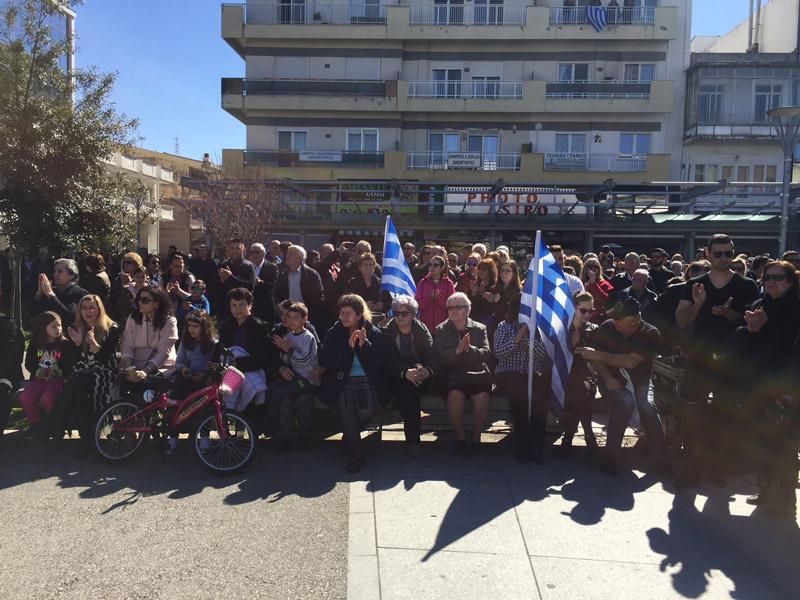 Συλλαλητήριο στην Ορεστιάδα για τους δύο Έλληνες στρατιωτικούς - Εικόνα 4
