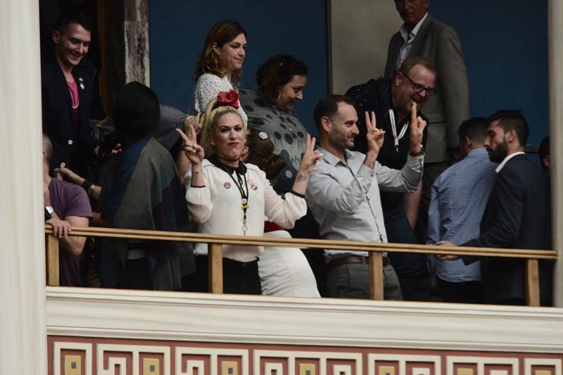 Ο ΣΥΡΙΖΑ έμεινε στην Ιστορία για τις εικόνες αυτές: Πανηγυρίζουν τρανς, γκει στα θεωρεία της Βουλής – Tι μέλλον έχει αυτή η χώρα; - Εικόνα7