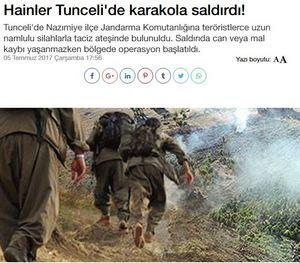 Τουρκία: Κούρδοι αυτονομιστές επιτέθηκαν σε αστυνομικό σταθμό στην Τουντσελί - Εικόνα1