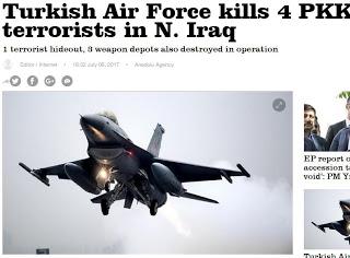 Τουρκικά μαχητικά βομβάρδισαν στο βόρειο Ιράκ - Εικόνα1