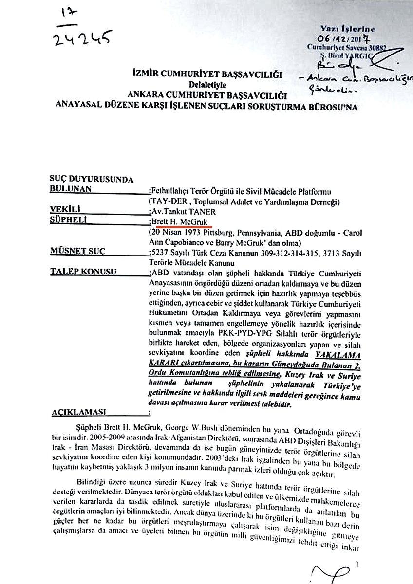 Τουρκικό ένταλμα σύλληψης για τον κορυφαίο Αμερικανό διπλωμάτη Brett McGurk; – Στον πάτο οι σχέσεις Ερντογάν-ΗΠΑ - Εικόνα2