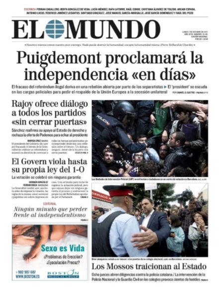 Βαθαίνει η κρίση: Τελεσίγραφο από Καταλονία για αποχώρηση των ισπανικών δυνάμεων – Ο Ραχόι θα εφαρμόσει το Άρθρο 155 για να αποτρέψει την Ανεξαρτησία ξεκινώντας νέο εμφύλιο - Εικόνα4