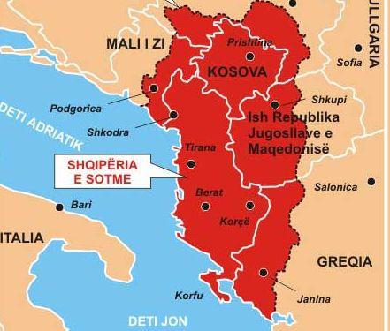 Αποτέλεσμα εικόνας για Μεγάλης Αλβανίας
