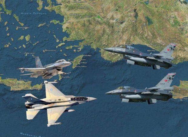 Άρχισαν τα όργανα :Υπερπτήση  Τούρκικων Μαχητικών πάνω από τη ν. Ρω… Παρουσία Α/ΓΕΕΘΑ!