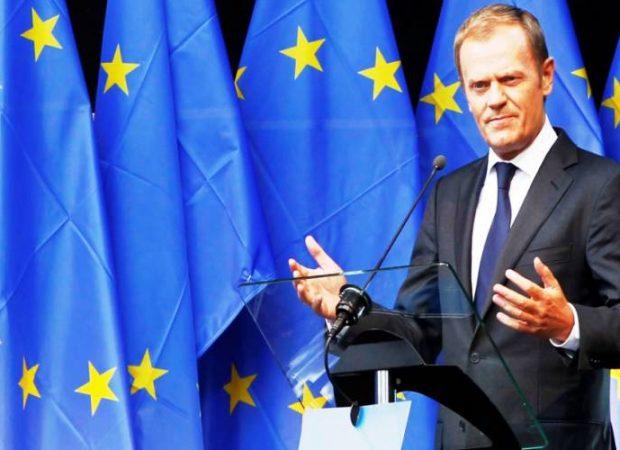Tusk-EU-flags