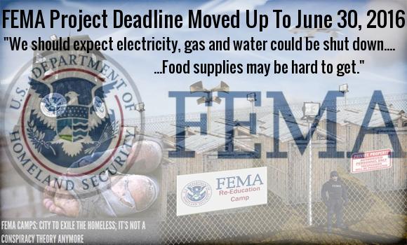 Ο σχεδιασμός της FEMA που θα έληγε το 2018 μεταφέρθηκε για τις 30 Ιουνίου 2016.