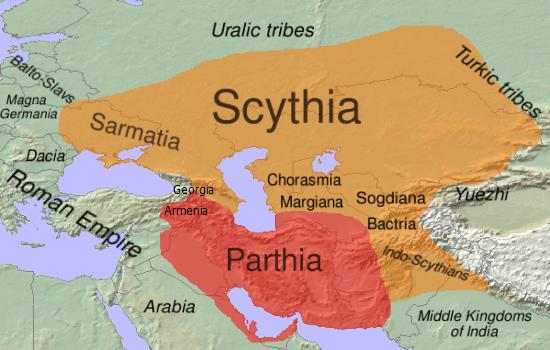 Maps-Scythia-Parthia-BC-100-goog