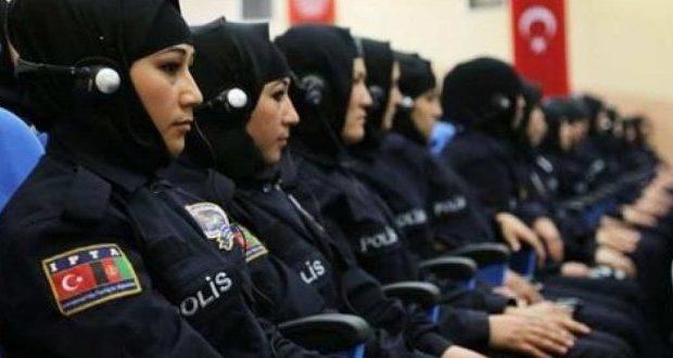 """Η μαντήλα """"σκεπάζει"""" την Τουρκία! Φόρεσαν και οι γυναίκες αστυνομικοί! Φωτό"""