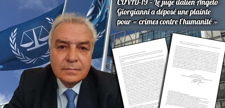 Ο Ιταλός δικαστικός Angelo Giorgianni υπέβαλε προσφυγή για «εγκλήματα κατά της ανθρωπότητας» για την κρατική υγειονομικοπολιτική διαχείριση covid19 στο Διεθνές Ποινικό Δικαστήριο της Χάγης.